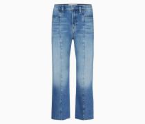 Knöchellange Seamed Wide Leg Jeans
