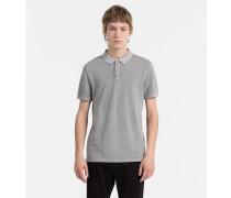 Slim ausgewaschenes Piqué-Poloshirt