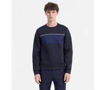 Gebondetes Sweatshirt in Blockfarbe