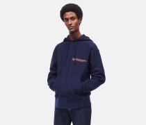 Besticktes kastiges Kapuzen-Sweatshirt