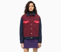 Trucker-Jacke aus Denim im Blockfarbendesign