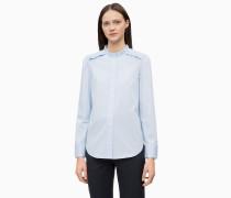 Hemd aus gekräuselter Baumwoll-Popeline