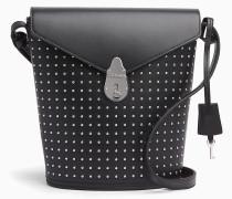 Kleine Bucket-Bag aus Leder mit Schloss und Nieten