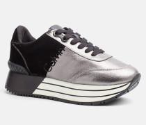 Sneakers aus Metallic-Canvas