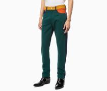 CKJ 035 Straight Jeans im Blockfarben-Design