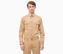 Baumwoll-Twill-Uniformhemd