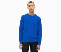 Strukturierter Pullover aus Wolle und Baumwolle