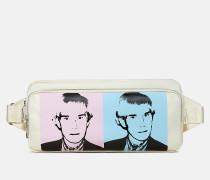 Schultertasche mit Warhol-Portrait