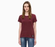 Slim Fit T-Shirt aus Baumwoll-Flammengarn