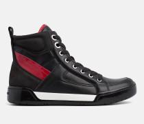 High Top Sneakers aus Leder