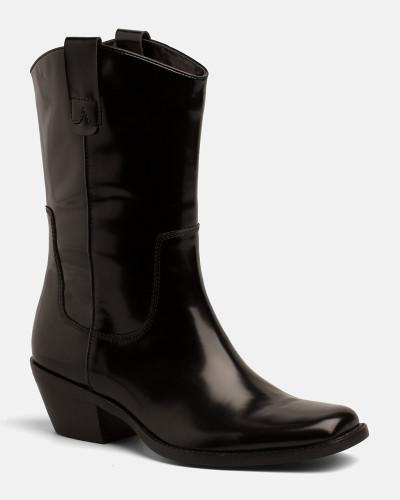 Rabatt Sehr Billig Calvin Klein Damen Cowboy-Stiefel aus Leder Auslass 100% Garantiert qMs8LB