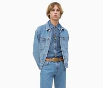 Oversized Trucker-Jacke aus Denim