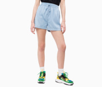 Denim-Shorts mit Tunnelzug