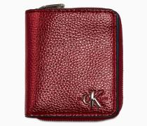 Logo-Portemonnaie mit Klappe und Rundum-Reißverschluss