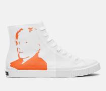 Sneakers aus Canvas mit Warhol-Porträt