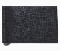 Geldscheinklammer-Portemonnaie aus Leder