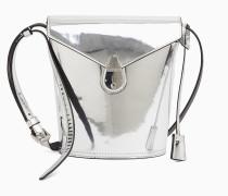 Kleine Bucket-Bag aus Leder mit Schloss