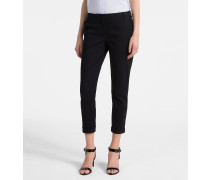 Cropped Hose aus Stretch-Baumwolle