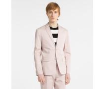 Taillierter Blazer aus Baumwoll-Satin