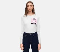 Langärmliges T-Shirt mit Warhol-Portrait