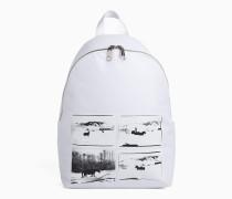 Rucksack mit Andy-Warhol-Fotokunst