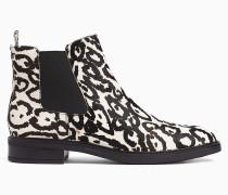 Chelsea-Stiefel aus Leder mit Print