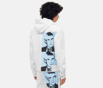 Denim-Truckerjacke mit Warhol-Portrait