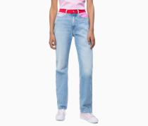 CKJ 030 High Rise Straight Jeans in Blockfarben