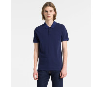 Slim Poloshirt aus Baumwoll-Piqué