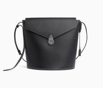 Bucket-Bag aus Leder mit Schloss