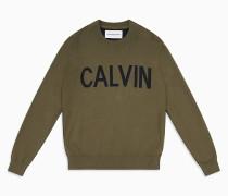 Logo-Sweater aus gekämmter Baumwolle