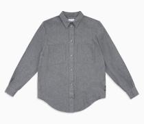 Boyfriend-Hemd aus Baumwoll-Flanell
