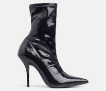 Stiefel aus Naplack-Leder mit Absatz
