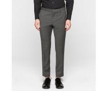 Taillierte Hose aus Schurwolle