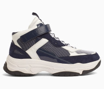 High Top Chunky Sneakers aus Leder