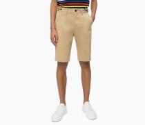 Shorts aus Stretch-Baumwoll-Twill