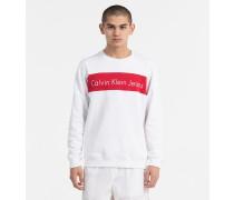 Zweifarbiges Logo-Sweatshirt