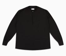Krepp-Bluse mit Schlüsselloch-Ausschnitt