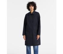 Langer Mantel aus Baumwoll-Twill
