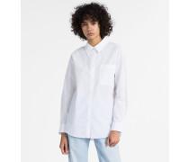 Oversized Hemd aus Baumwoll-Popeline