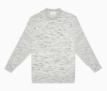 Melierter Pullover aus Baumwolle-Woll-Gemisch