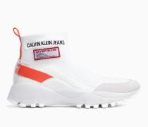 High Top Sneakers aus Strickgewirk