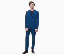Slim Fit Anzug aus Wollmischung