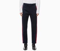 Baumwoll-Twill-Hose mit seitlichen Streifen