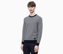 Strukturierter zweifarbiger Sweater