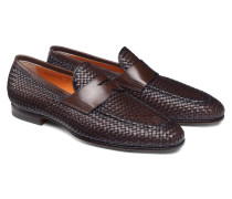 Loafer aus geflochtenem Leder