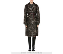 Damen-Mantel aus Jacquardgewebe