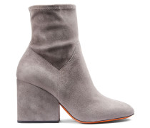 Ankle-Boot aus Veloursleder