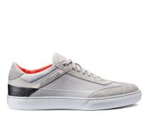 Sneaker aus Leder, Veloursleder und Textil