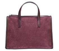 Handtasche aus Leder und Veloursleder